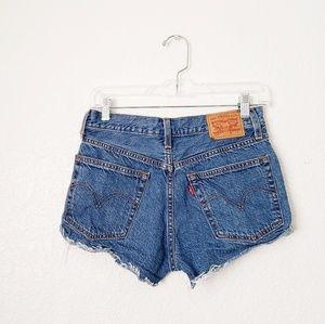 Levi's Button Fly High Rise Cheeky Cutoff Shorts